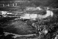 The Don River (Brick Works in the background), Toronto, c. 1931. #vintage #1930s #Canada
