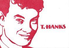 T.HANKS Retro Funny Thank You Letterpress Greeting Card
