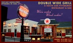 Double wide grill, Pittsburgh PA- Seitan wings and veg bbq! Mmmmm.....  Pic from doublewidegrill.com