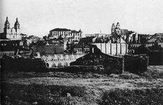 Руіны на вяршыні Замкавай гары. 1944 г.