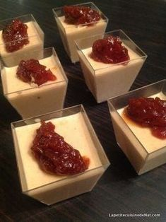 A pana cotta with foie gras as an aperitif, for the holidays or not! That's it - Panna Cotta - noel Foie Gras, Cooking Time, Cooking Recipes, Panna Cotta, Peanut Recipes, Finger Foods, Love Food, Mousse, Brunch