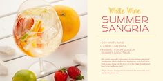 Summer Sangria Recipe White Wine