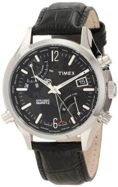 Men's Wrist Watches - Timex Mens T2N943DH Intelligent Quartz World Time Watch *** Visit the image link more details.