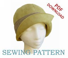 SEWING PATTERN - Penelope, 1920's Twenties Cloche Hat for Child or Adult