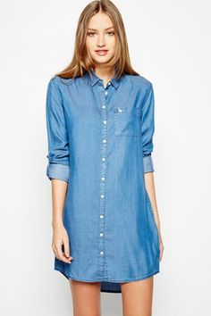JACK WILLS: JACK WILLS DRESS - MAGGIE OVERSIZED SHIRT CHAMBRAY Buy Now $98.5 Find at Faearch