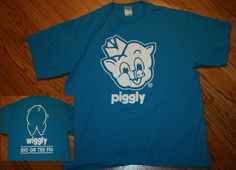 """PIGGLY WIGGLY """"BIG ON THE PIG"""" T-Shirt Adult X-Large XL #Gildan #GraphicTee"""