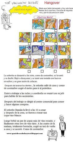 Spanish Test: Spanish Vocabulary Test: Hangover (El indefinido)