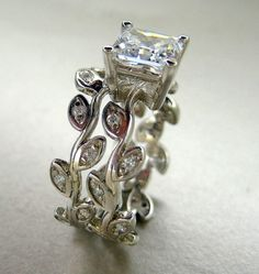 Not that I would replace my ring but ... I love this!!  Two band leaf engagement ring valerie k studio