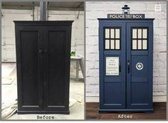 Dr. Who Repurposed Police Box Cabinet