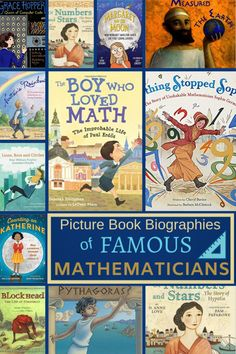 Picture Book Biographies of Famous Mathematicians - Wonder-Filled Days Math Books, Preschool Books, Writing A Book, Grade Books, Writing Help, Homeschool Math, Homeschooling, Curriculum, Love Math