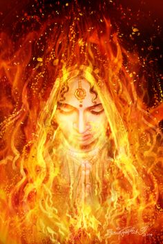 Draupadi - daughter of King Dhrupad, sister of Dhristadyumna arose from the divine fire. the very purpose of her birth was the destruction of the evil Kauravas (Mahabharath) Hindu Deities, Hinduism, Indian Art Paintings, India Art, Shiva Shakti, Krishna Art, God Pictures, Indian Gods, Durga