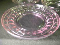 LAVENDER DEPRESSION GLASS PRESSED PLATES