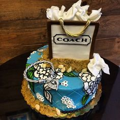 Sculpted Coach Bag, Brighton Charm Bracelet & Vera Bradley designed cake