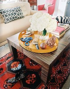 Several wars to style a coffee table from various blogs - djc