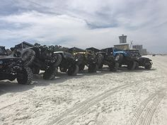 I don't know what was going on in Daytona Beach yesterday or if it was just a normal day but there were hundreds of rigs out there. Wish I would've taken more photos #jeep #jeeplife #Wrangler #jeeps #Cherokee #JeepMafia #offroad #4x4
