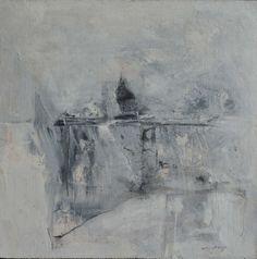 "Fog, David Baca, 10x10"" acrylic/panel, $750. #abstractart #artgifts #holidaygiftguide #smallworks"