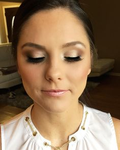 """Soft champagne and pinks into subtle smokey Browns! My most requested look!"""""""