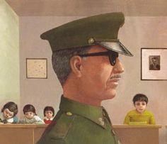 Ilustración de Alfonso Ruano para La Composición, un álbum ambientado en la dictadura chilena de Pinochet