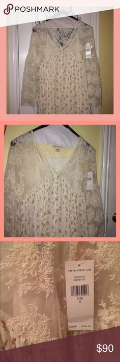 Denim & Supply Ralph Lauren Dress Never been worn dress topped with pretty lace detail and  has light under dress already conveniently sewn in. Denim & Supply Ralph Lauren Dresses Long Sleeve