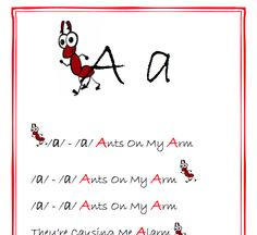 Learning the Alphabet through song and dance.
