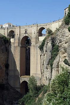The ancient town of Ronda, Spain.