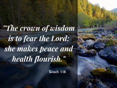 Sirach 1:18