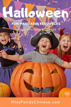 Halloween fun Mandarin Resources Five Little Pumpkins | MissPandaChinese.com
