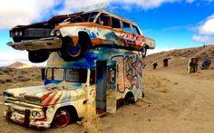 Car Forest. Roadside Attractions. Goldfield. Nevada. Road Trip. Travel. America the Beautiful. Female Nomad. Women Seeks World. Female Traveler. Junkyard. Mining Town. Trash Art. Reuse. Recycle. Reduce.