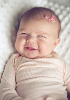 I remember the morning she first smiled at me. She was about 6 weeks old? and she'd been giving us hell at night. Then I got the chummiest smile...!