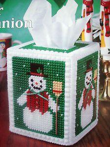 "Free Plastic Canvas Tissue Box | ... about ""WINTER COMPANION TISSUE BOX COVER""~*~PLAST IC CANVAS PATTERN"