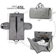 On Garment Duffel Bag for Wrinkle-Free Business Travel Carry On Garment Duffel Bag for Wrinkle-Free Business Travel-Garment Bag-Modoker-ModokerCarry On Garment Duffel Bag for Wrinkle-Free Business Travel-Garment Bag-Modoker-Modoker Duffle Bag Travel, Duffel Bag, Mens Travel Bag, Fun Travel, Travel Bags For Men, Travel Tips, Business Travel, Business Casual, Travel Bag Essentials