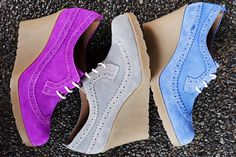 doc marten sita brogue wedges.  why, yes, i did just order the blue ones!