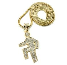 Gold Iced Out LMFAO Shufflin Pendant with a 36 Inch Franco Necklace Chain Sorry For Party Rocking JOTW. $29.95. Great Quality Jewelry. 100% Satisfaction Guaranteed!