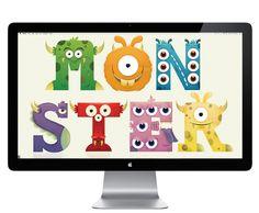 Monsters alphabet by Anna Pujadas, via Behance