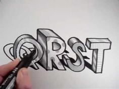 ▶ How to Draw 3D Letters: Q R S T - YouTube