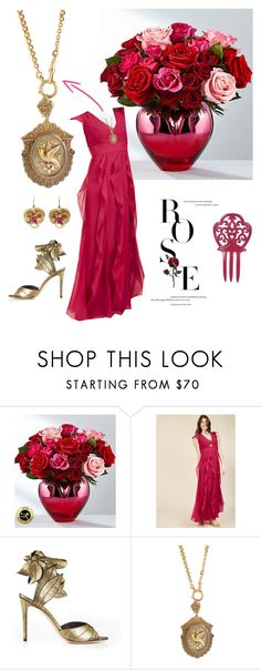 """Rose-themed set #2,856"" by highly-fashionable-shark ❤ liked on Polyvore featuring Vivienne Westwood, Olivia Collings Antique Jewelry, vintage, floral, vintagejewelry and theyjusthappen"