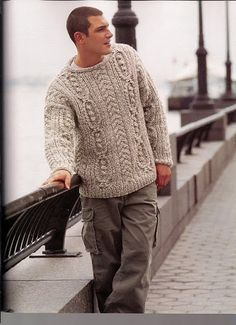 MADE TO ORDER men's sweater hand knitted men by LuxuryKNITTING2013, $220.00