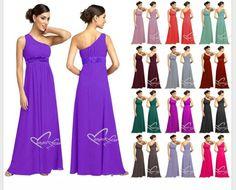 Ebay bridesmaids dresses - rainbow colours.