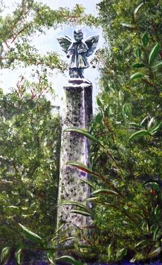Angel at Bolton Pass. Acrylic on canvas . Painting Digital, Bird Feeders, Ladder Decor, Angel, Fine Art, Canvas, Outdoor Decor, Home Decor, Tela