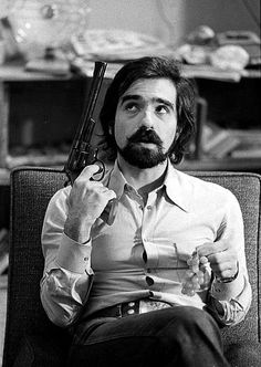 Martin Scorsese on the set of TAXI DRIVER.