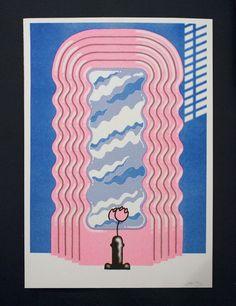 Image of Sexy Sottsass - Jiro Bevis riso print wonderful.