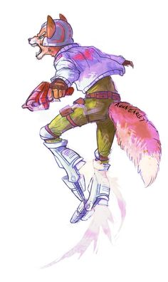 Yappy Space Fuzzy by Turtle-Arts on DeviantArt Fox Mccloud, Fox Games, Fox Series, Alien Concept, Star Fox, Super Star, Video Game Art, Super Smash Bros, Character Drawing