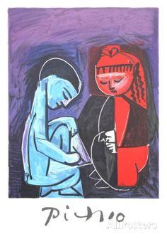 Deux Enfants Claude et Paloma Verzamelposters van Pablo Picasso bij AllPosters.nl