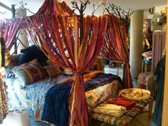 Bohemian display at Anthropologie