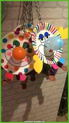 30 Ideen zum Basteln mit Kindern zu Fasching mexer com crianças artesanato idéias carnaval craft home Kids Crafts, Clown Crafts, Circus Crafts, Carnival Crafts, Summer Crafts, Crafts For Teens, Preschool Crafts, Diy And Crafts, Arts And Crafts