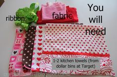 making an apron from dish towels | craft whatever: Choose your own apron-sewing-adventure...Valentines ...