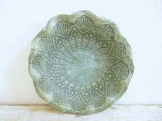 Lace Doily Ceramic Bowl Mother's Day by MyMothersGarden on Etsy, $48.00