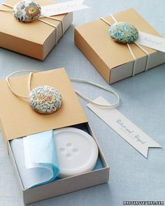 button + elastic packaging