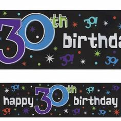 """Amscan 142268 The Party Continues 30 Giant Banner by Amscan. $6.00. Manufactured to the Highest Quality Available.. Great Gift Idea.. Design is stylish and innovative. Satisfaction Ensured.. This giant foil banner measures 20"""" wide x 65"""" long (.51m x 1.65m) and displays your sentiment in a big way! Banner can be used either indoors or outdoors and grommet holes are also included for easy setup. Makes a colorful decoration for your next 30th birthday party!. Save 71%!"""