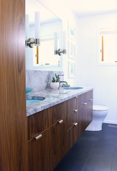 A Mid-Century Modern Inspired Bathroom Renovation - Before   After